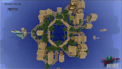 Blueprints For Tiny Houses oceanic city of nepte minecraft project