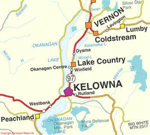 kelowna canada map bc maps thompson okanagan okanagan lake map