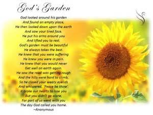 Flowers For Grief - funeral poem gods garden 187 swanborough funerals