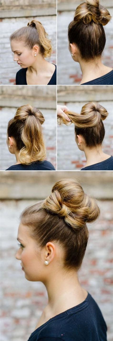 diy ponytail haircut for medium length hair 101 easy diy hairstyles for medium and long hair to snatch