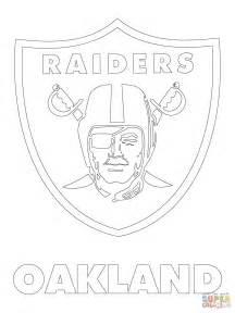 oakland raiders logo coloring page free printable