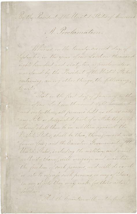 The Emancipation Proclamation | National Archives Emancipation Proclamation Actual Document