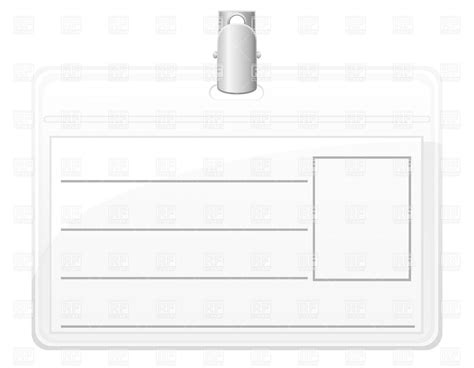 blank badge template identification card blank white name tag badge