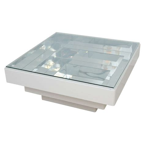 retro white lucite infinity coffee table at 1stdibs
