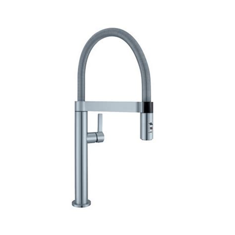 blanco sonoma single handle pull down sprayer kitchen faucet in stainless 441647 the home depot blanco culina mini single handle pull down sprayer kitchen