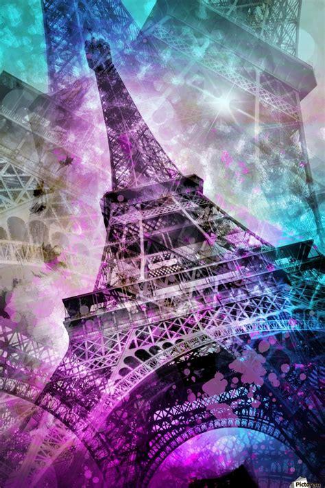 Pop Art Eiffel Tower Melanie Viola Canvas