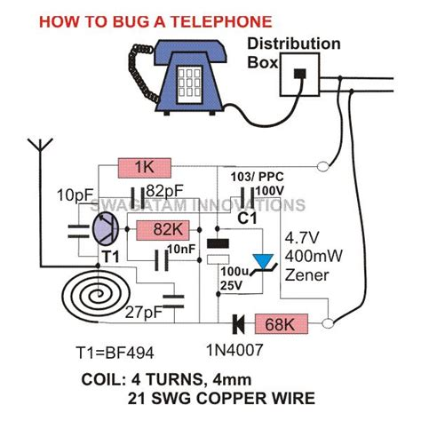 how to bug a telephone or record bugging devices equipment