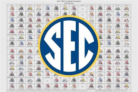 printable helmet schedule 2017 sec football helmet schedule