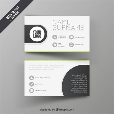 template card design free visit card design template vector free