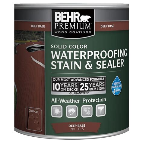 behr premium  oz deep base solid color waterproofing