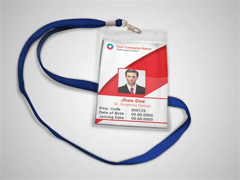 employee id card template free behance corporate official id card template freebie on behance