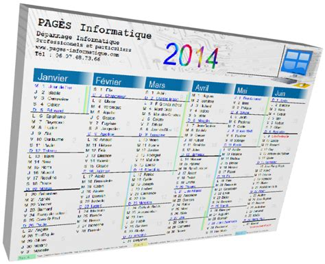 Calendrier 0 Imprimer 2014 Calendrier Format A4 224 Imprimer