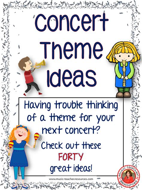education theme music concert theme ideas for music teachers music teachers
