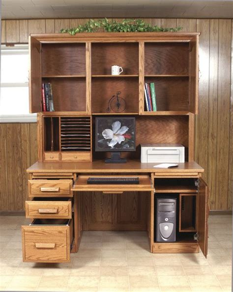 computer desk  hutch woodworking plans woodworking