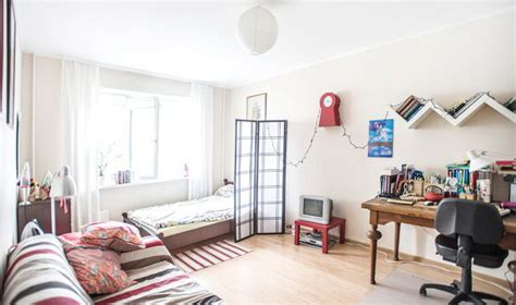 one room sweet and girlish apartment of a postcrossing fan wall