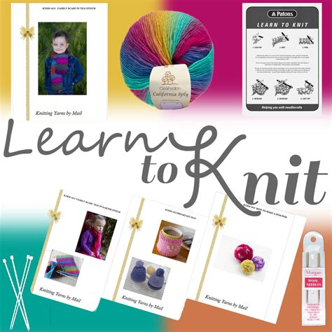 learn to knit kit beginners learn to knit starter kit with wool yarn