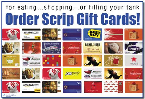 Scrip Gift Cards - saint susanna school scrip