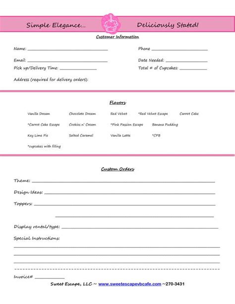 cupcake invoice template the world s catalog of ideas