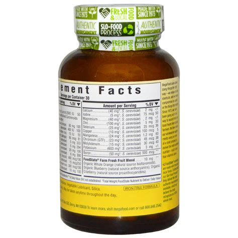 Megavite Iron Free 30 Tablets megafood one daily iron free 30 tablets iherb