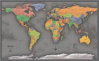 Cool World Map by Cool Color World Map Modern Design World Map