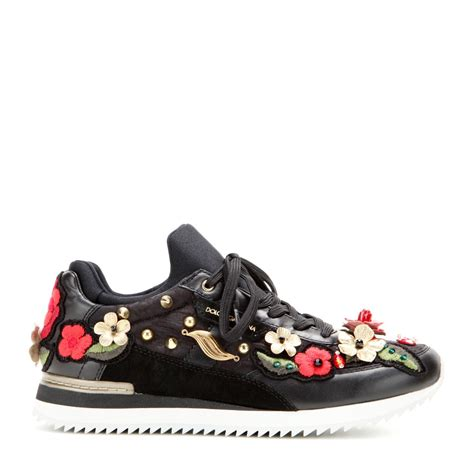 dolce gabana sneakers dolce gabbana embroidered leather sneakers lyst