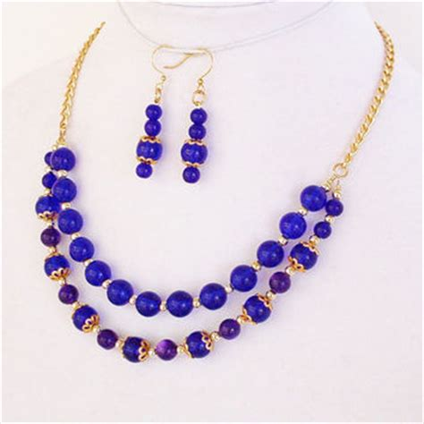 best cobalt blue statement necklace products on wanelo