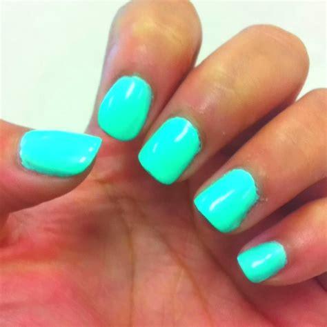 sea foam green gel nails