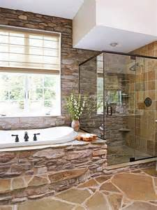 rustic bathrooms with natural stone