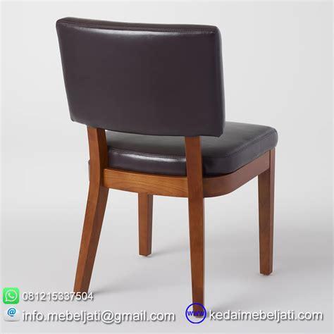 Kursi Oscar kursi makan jok minimalis bahan kayu jati jepara jok kulit