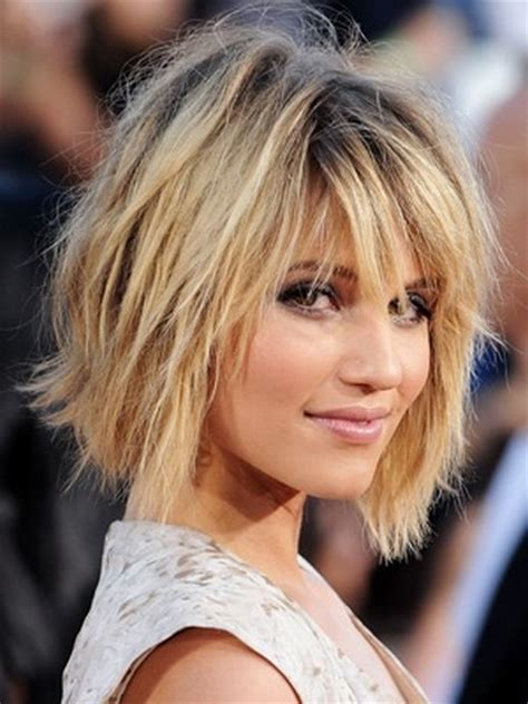 hairstyles scruffy bob dianna agron messy bob hairstyle for party hair look