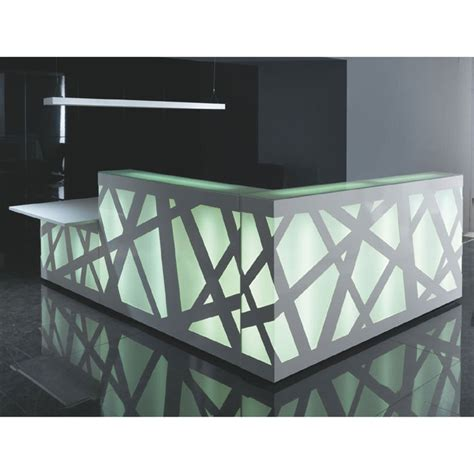 Zig Zag Reception Desk Zig Zag Reception Desk With Led Illuminated Panels