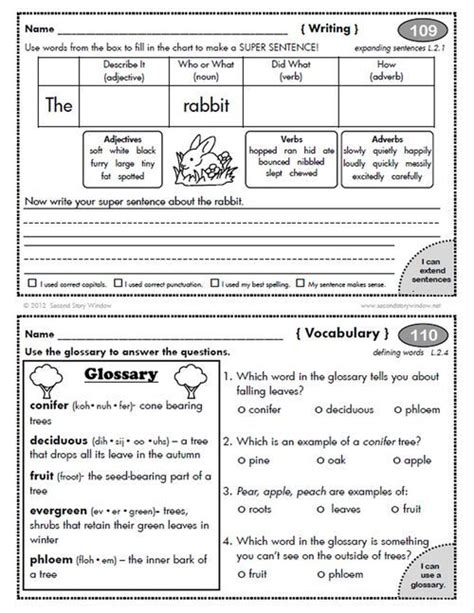 2nd Grade Homework Pages by 1000 Images About Homework On Morning Work