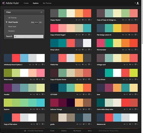 popular color palettes a cool tool for experimenting with dashboard and portal