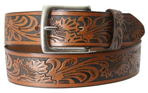 stonehenge s brown leather western belt