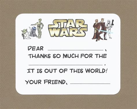 printable star wars thank you notes star wars fill in the blank thank you notes may by