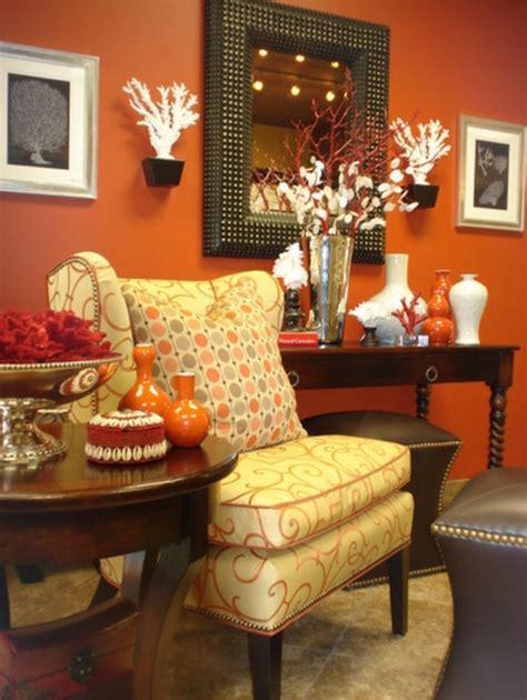 orange wohnzimmerwände dekoration und accessoires f 252 rs sch 246 ne zuhause