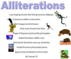 alliteration poem template australian animals alliteration poems 187 samuel class