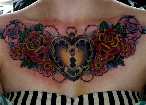 female chest piece tattoos sometimes sweet tuesday v 109