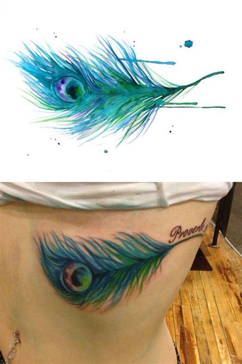 peacock feather tattoo small 25 best ideas about watercolor peacock on