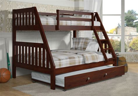 Bunk Bed With Trundle And Drawers Bunk Bed W Drawers Or Trundle Option Espresso Ebay