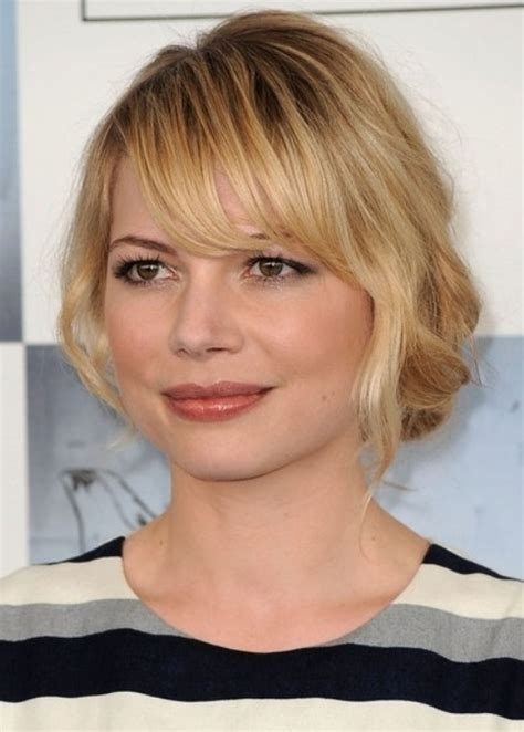 hairstyle for round face fringe top 100 hairstyles for round faces herinterest com