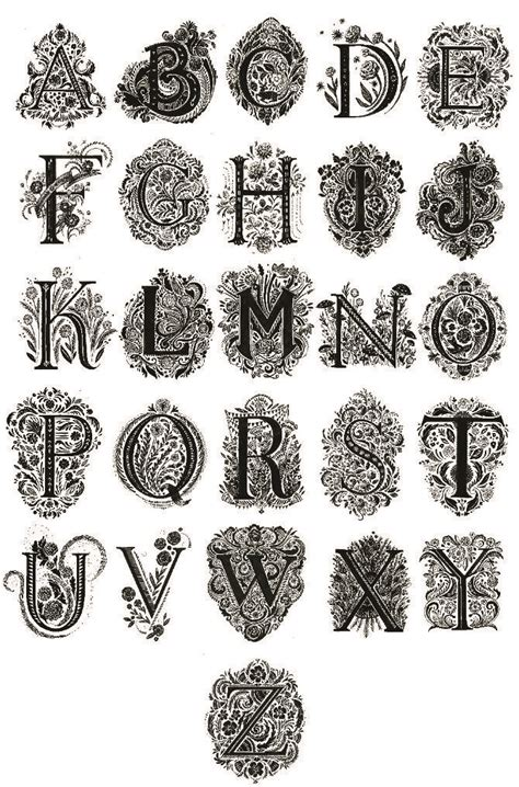 printable victorian alphabet victorian alphabet schriften pinterest