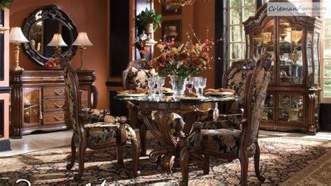 Aico Dining Room Set oppulente sienna spice round dining room collection from
