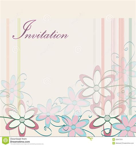 Invitation Card Template Invitation Card Birthdaycard Invitation 点力图库 Card Invitation Templates Free