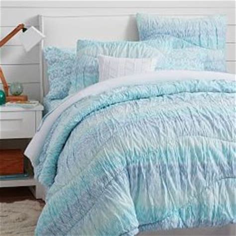 purple ruched comforter surf dip dye ruched duvet cover sham from pbteen things i
