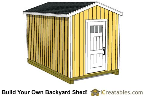 8x16 Shed by 8x16 Storage Shed Plans Easy To Build Designs How To
