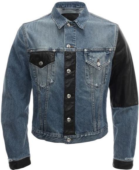 Patchwork Denim Jacket - mcq by mcqueen recycled patchwork denim jacket