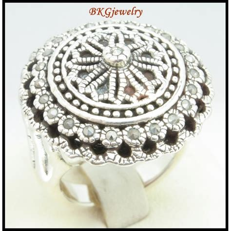 silver electroforming jewelry electroforming jewelry marcasite ring 925 sterling silver