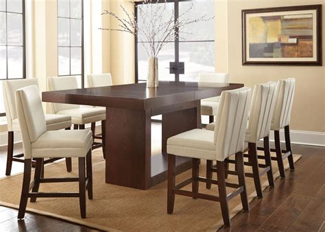 counter height rectangular table sets antonio extendable rectangular counter height dining room