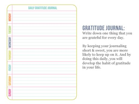 gratitude journal template planner giveaway one happy
